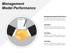 Management Model Performance Ppt PowerPoint Presentation Layouts Brochure Cpb