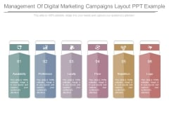 Management Of Digital Marketing Campaigns Layout Ppt Example