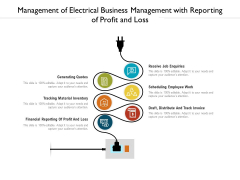Management Of Electrical Business Management With Reporting Of Profit And Loss Ppt PowerPoint Presentation Gallery Show PDF