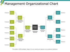 Management Organizational Chart Ppt PowerPoint Presentation Visual Aids Portfolio