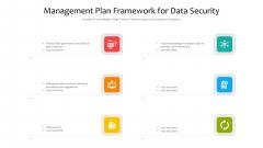Management Plan Framework For Data Security Ppt Inspiration Background Designs PDF