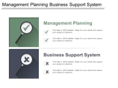Management Planning Business Support System Customer Experience Model Ppt PowerPoint Presentation Clipart