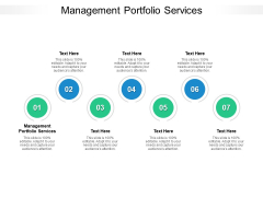 Management Portfolio Services Ppt PowerPoint Presentation Gallery Backgrounds Cpb Pdf