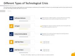 Management Program Presentation Different Types Of Technological Crisis Slides PDF