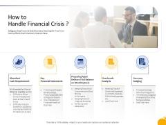 Management Program Presentation How To Handle Financial Crisis Introduction PDF