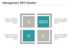 Management SEO Solution Ppt PowerPoint Presentation Outline Microsoft Cpb