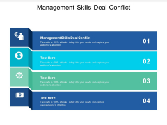 Management Skills Deal Conflict Ppt PowerPoint Presentation Model Introduction Cpb