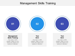 Management Skills Training Ppt PowerPoint Presentation Outline Format Ideas Cpb