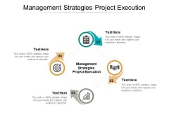 Management Strategies Project Execution Ppt PowerPoint Presentation Infographics Guide Cpb