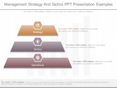 Management Strategy And Tactics Ppt Presentation Examples