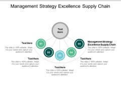 Management Strategy Excellence Supply Chain Ppt PowerPoint Presentation Outline Example Cpb