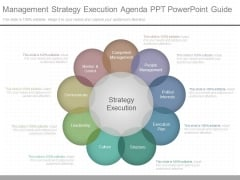 Management Strategy Execution Agenda Ppt Powerpoint Guide