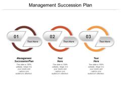 Management Succession Plan Ppt Powerpoint Presentation Portfolio Vector Cpb