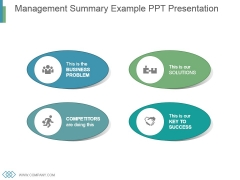Management Summary Example Ppt Presentation