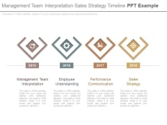 Management Team Interpretation Sales Strategy Timeline Ppt Example