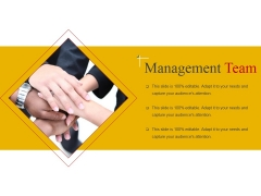 Management Team Template 1 Ppt PowerPoint Presentation Icon Slide Portrait