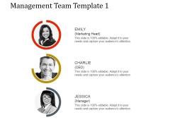 Management Team Template 1 Ppt PowerPoint Presentation Ideas
