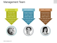 Management Team Template 1 Ppt PowerPoint Presentation Pictures