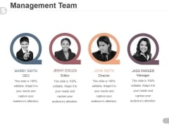 Management Team Template 2 Ppt PowerPoint Presentation Designs
