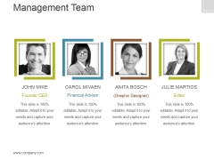 Management Team Template 2 Ppt PowerPoint Presentation Graphics