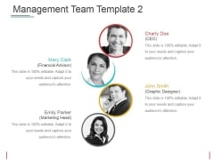 Management Team Template 2 Ppt PowerPoint Presentation Layouts Inspiration