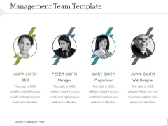 Management Team Template 2 Ppt PowerPoint Presentation Show