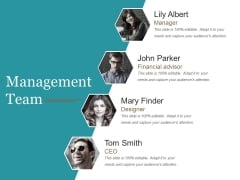 Management Team Template 2 Ppt PowerPoint Presentation Slides Infographic Template