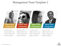 Management Team Template 2 Ppt PowerPoint Presentation Visuals