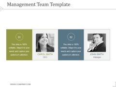 Management Team Template 3 Ppt PowerPoint Presentation Diagrams