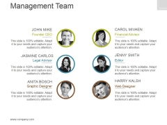 Management Team Template 4 Ppt PowerPoint Presentation Layouts