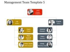 Management Team Template 5 Ppt PowerPoint Presentation Background Designs