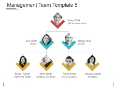 Management Team Template 5 Ppt PowerPoint Presentation Infographic Template Guidelines