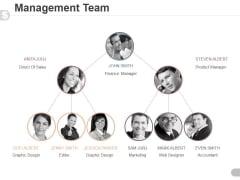Management Team Template 5 Ppt PowerPoint Presentation Show