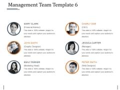 Management Team Template 6 Ppt PowerPoint Presentation Professional Grid