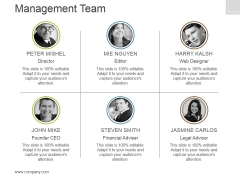 Management Team Template 6 Ppt PowerPoint Presentation Slides