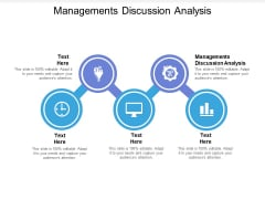 Managements Discussion Analysis Ppt PowerPoint Presentation Visual Aids Inspiration Cpb