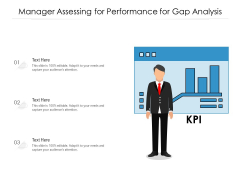 Manager Assessing For Performance For Gap Analysis Ppt PowerPoint Presentation Portfolio File Formats PDF