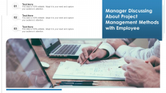 Manager Discussing About Project Management Methods With Employee Ppt Styles Templates PDF