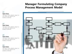 Manager Formulating Company Process Management Model Ppt PowerPoint Presentation Outline PDF