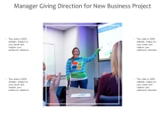 Manager Giving Direction For New Business Project Ppt PowerPoint Presentation Pictures Icon PDF