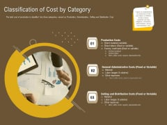 Managerial Accounting System Classification Of Cost By Category Ppt Model Show PDF