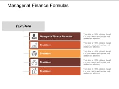 Managerial Finance Formulas Ppt PowerPoint Presentation Pictures Files Cpb