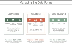 Managing Big Data Forms Ppt PowerPoint Presentation Layout