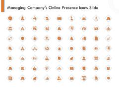 Managing Companys Online Presence Icons Slide Icons PDF
