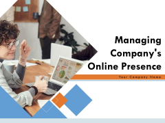 Managing Companys Online Presence Ppt PowerPoint Presentation Complete Deck With Slides