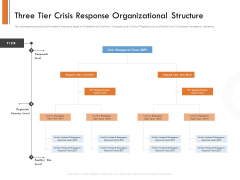 Managing Companys Online Presence Three Tier Crisis Response Organizational Structure Pictures PDF
