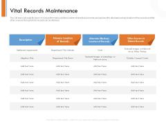 Managing Companys Online Presence Vital Records Maintenance Brochure PDF
