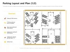 Managing Construction Work Parking Layout And Plan Parking Layout Ppt Slides Inspiration PDF