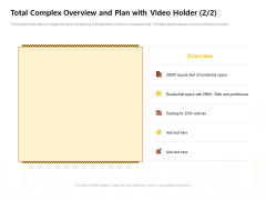 Managing Construction Work Total Complex Overview And Plan With Video Holder Overview And Plan Sample PDF