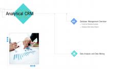 Managing Customer Experience Analytical CRM Mockup PDF